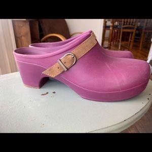 Purple Sarah Croc Mules